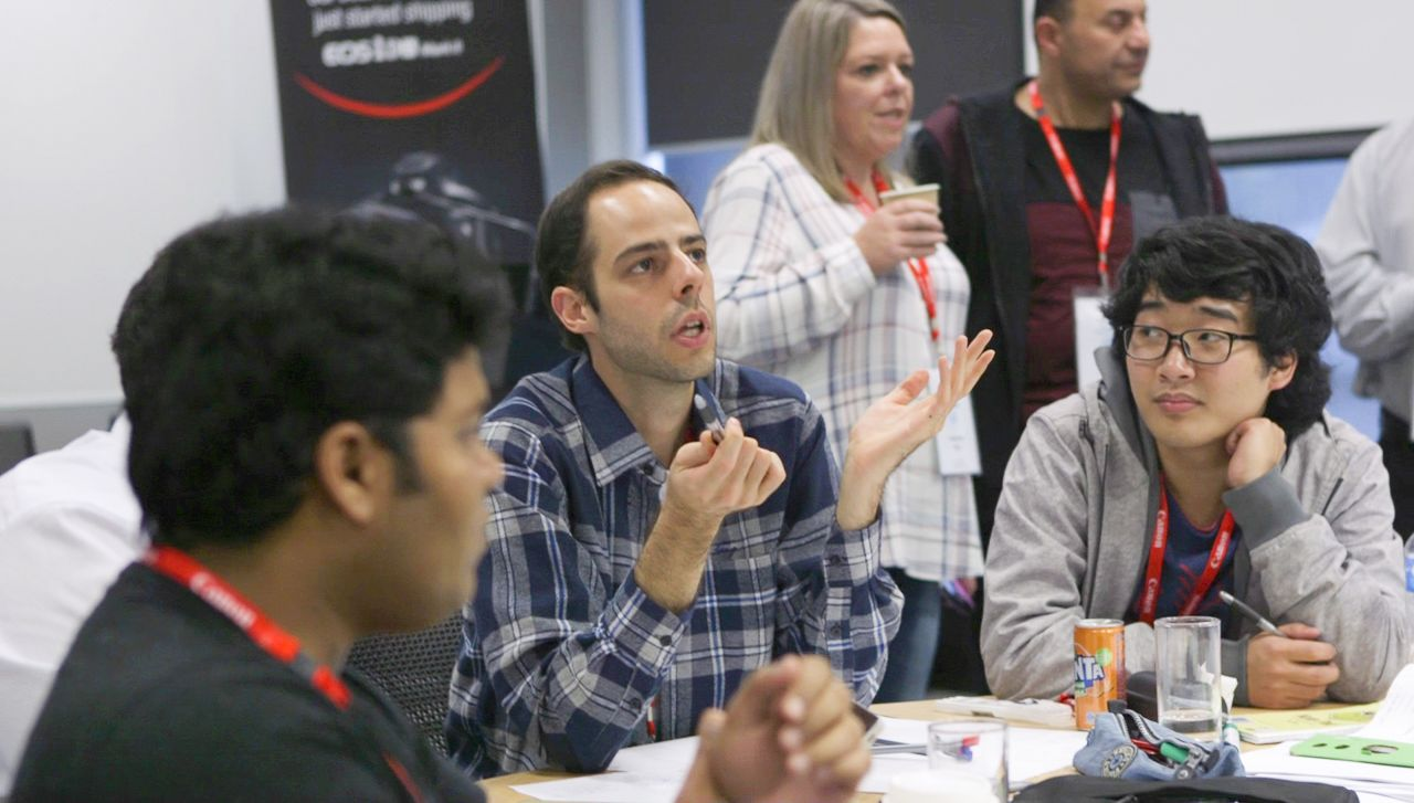 Innovators from Paddl working together for Canon Australia