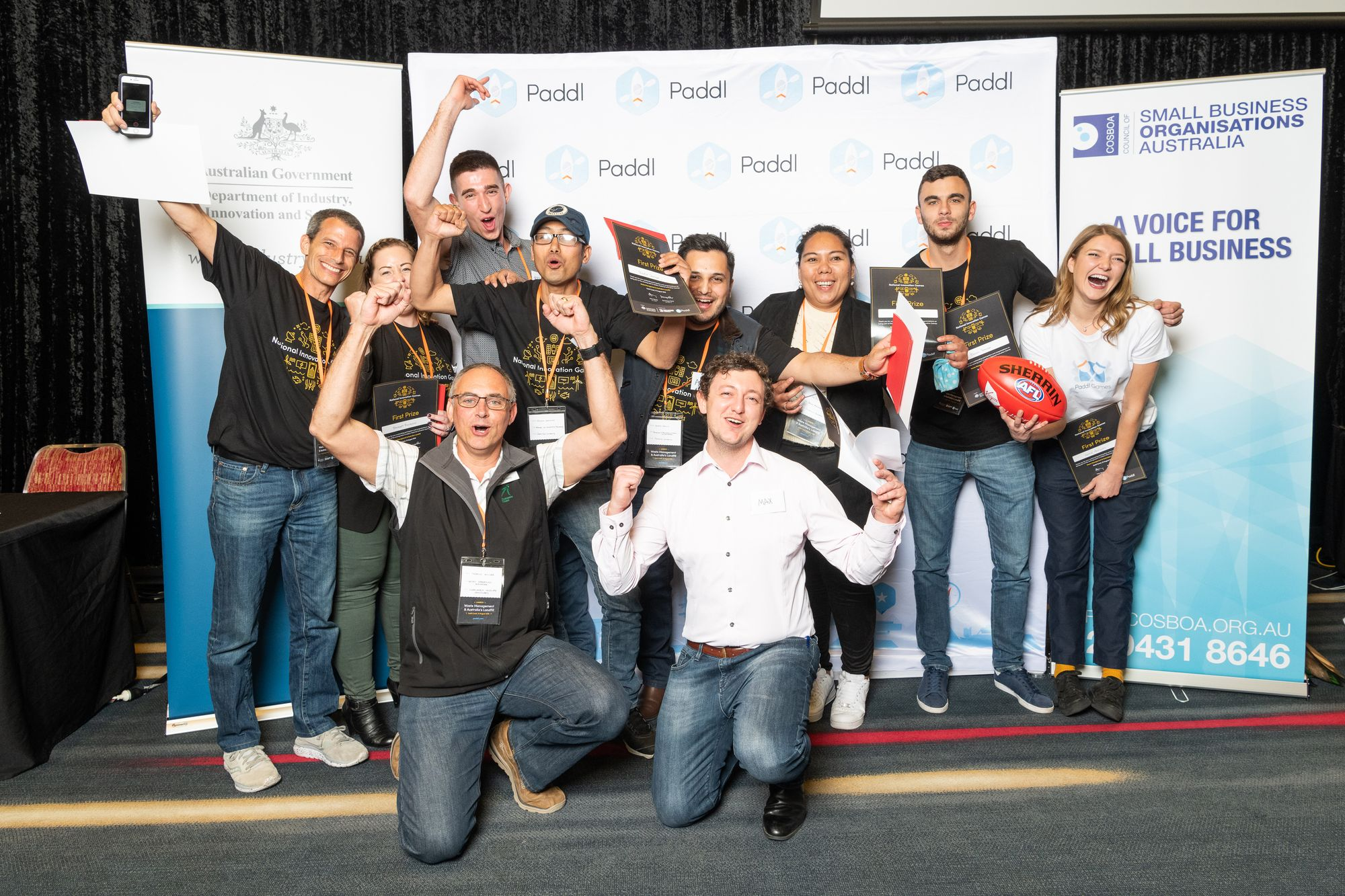 First Place Winners, Virgin Australia National Innovation Games, Gold Coast.